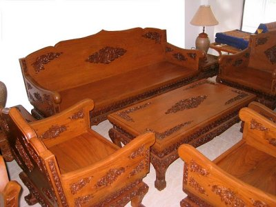 Hand Carved Teakwood Furniture From Thailand
